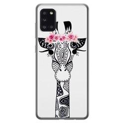 Casimoda Samsung Galaxy A31 siliconen hoesje - Giraffe