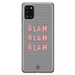 Casimoda Samsung Galaxy A31 siliconen hoesje - Blah blah blah