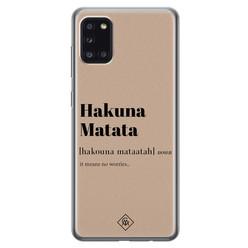 Casimoda Samsung Galaxy A31 siliconen hoesje - Hakuna matata