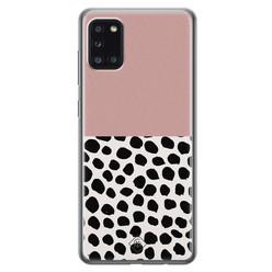 Casimoda Samsung Galaxy A31 siliconen hoesje - Pink dots