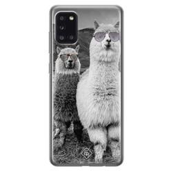 Casimoda Samsung Galaxy A31 siliconen hoesje - Llama hipster