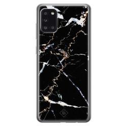 Casimoda Samsung Galaxy A31 siliconen hoesje - Marmer zwart