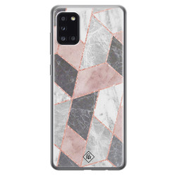 Casimoda Samsung Galaxy A31 siliconen hoesje - Stone grid