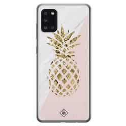 Casimoda Samsung Galaxy A31 siliconen hoesje - Ananas