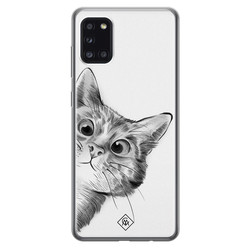 Casimoda Samsung Galaxy A31 siliconen hoesje - Peekaboo