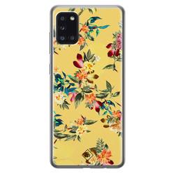 Casimoda Samsung Galaxy A31 siliconen hoesje - Floral days