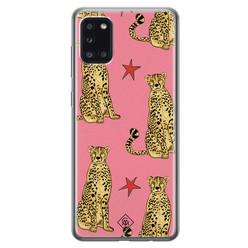 Casimoda Samsung Galaxy A31 siliconen hoesje - The pink leopard