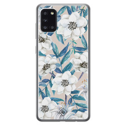 Casimoda Samsung Galaxy A31 siliconen hoesje - Touch of flowers