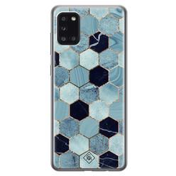 Casimoda Samsung Galaxy A31 siliconen hoesje - Blue cubes