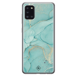 Casimoda Samsung Galaxy A31 siliconen hoesje - Touch of mint