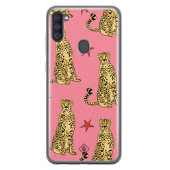 Casimoda Samsung Galaxy A11 siliconen hoesje - The pink leopard