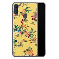 Casimoda Samsung Galaxy A11 siliconen hoesje - Floral days