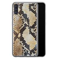 Casimoda Samsung Galaxy A11 siliconen hoesje - Golden snake
