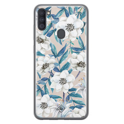 Casimoda Samsung Galaxy A11 siliconen hoesje - Touch of flowers