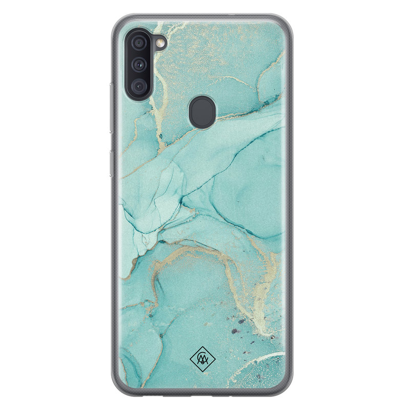 Casimoda Samsung Galaxy A11 siliconen hoesje - Touch of mint