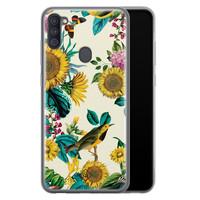 Casimoda Samsung Galaxy A11 siliconen hoesje - Sunflowers