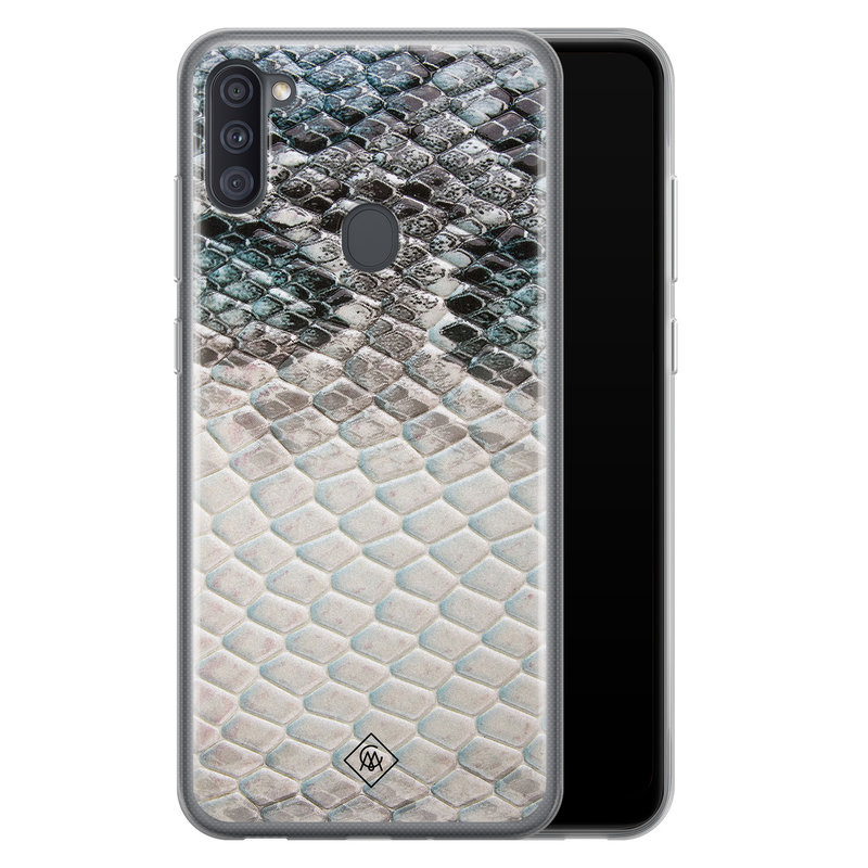 Casimoda Samsung Galaxy A11 siliconen hoesje - Oh my snake