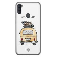 Casimoda Samsung Galaxy A11 siliconen hoesje - Let's get lost
