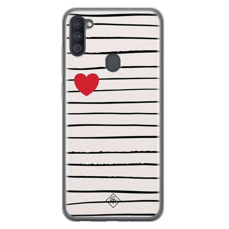 Casimoda Samsung Galaxy A11 siliconen hoesje - Heart queen