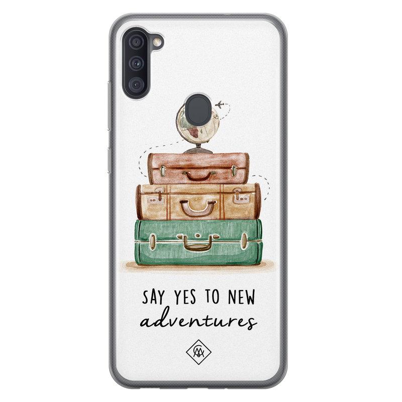 Casimoda Samsung Galaxy A11 siliconen hoesje - Wanderlust