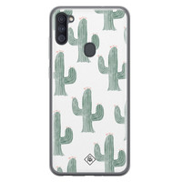 Casimoda Samsung Galaxy A11 siliconen telefoonhoesje - Cactus print
