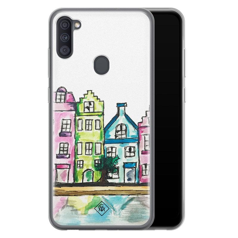 Casimoda Samsung Galaxy A11 siliconen telefoonhoesje - Amsterdam