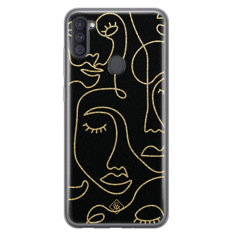 Casimoda Samsung Galaxy A11 siliconen hoesje - Abstract faces