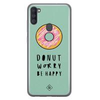 Casimoda Samsung Galaxy A11 siliconen hoesje - Donut worry
