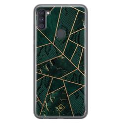 Casimoda Samsung Galaxy A11 siliconen hoesje - Abstract groen
