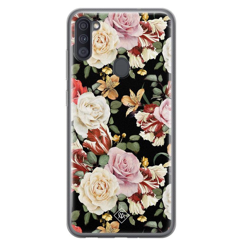 Casimoda Samsung Galaxy A11 siliconen hoesje - Flowerpower