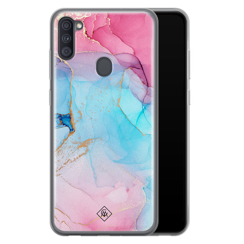Casimoda Samsung Galaxy A11 siliconen hoesje - Marble colorbomb