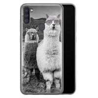 Casimoda Samsung Galaxy A11 siliconen telefoonhoesje - Llama hipster