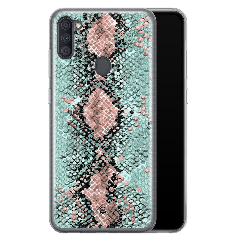 Casimoda Samsung Galaxy A11 siliconen hoesje - Snake pastel
