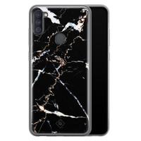 Casimoda Samsung Galaxy A11 siliconen hoesje - Marmer zwart