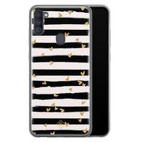 Casimoda Samsung Galaxy A11 siliconen telefoonhoesje - Hart streepjes