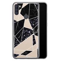 Casimoda Samsung Galaxy A11 siliconen telefoonhoesje - Abstract painted