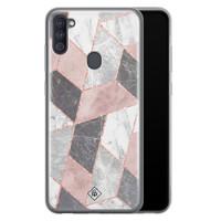 Casimoda Samsung Galaxy A11 siliconen telefoonhoesje - Stone grid