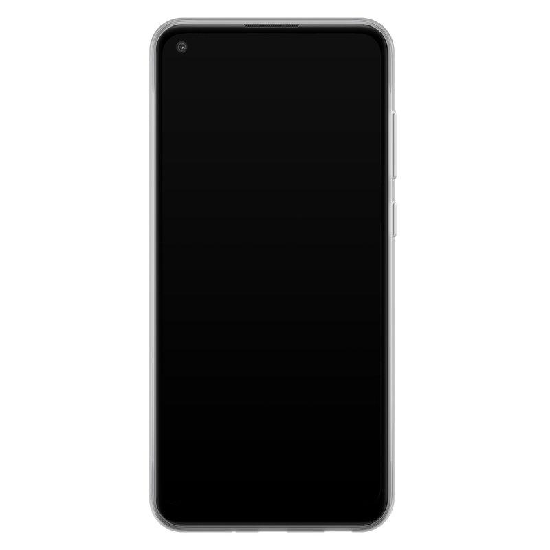 Casimoda Samsung Galaxy A11 siliconen hoesje - Marmer blauw
