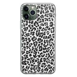 Casimoda iPhone 11 Pro siliconen hoesje - Luipaard grijs
