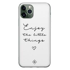 Casimoda iPhone 11 Pro siliconen hoesje - Enjoy life