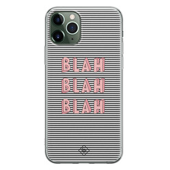 Casimoda iPhone 11 Pro siliconen hoesje - Blah blah blah