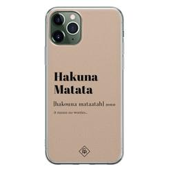 Casimoda iPhone 11 Pro siliconen hoesje - Hakuna matata
