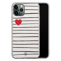 Casimoda iPhone 11 Pro siliconen hoesje - Heart queen