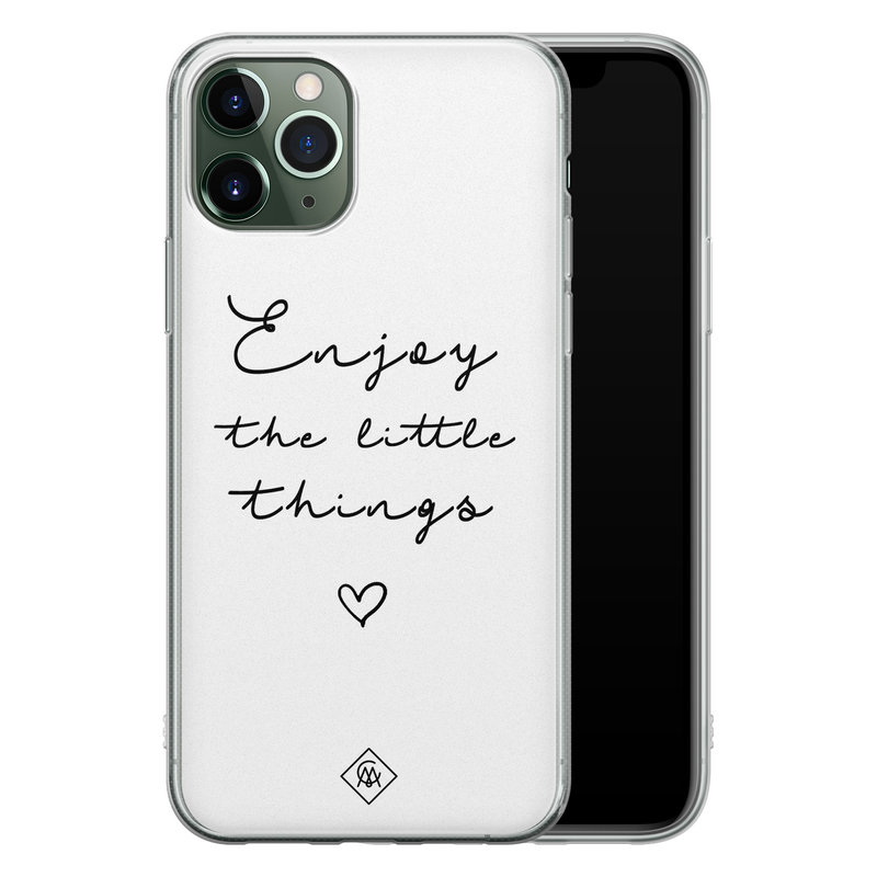Casimoda iPhone 11 Pro siliconen hoesje - Enjoy life