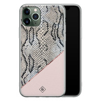 Casimoda iPhone 11 Pro siliconen hoesje - Snake print
