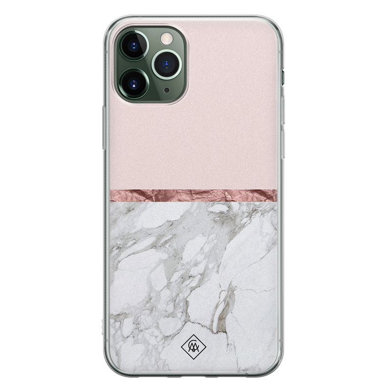 Casimoda iPhone 11 Pro siliconen telefoonhoesje - Rose all day