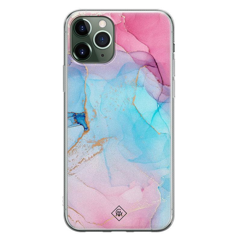 Casimoda iPhone 11 Pro siliconen hoesje - Marble colorbomb