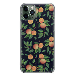 Casimoda iPhone 11 Pro siliconen hoesje - Orange lemonade