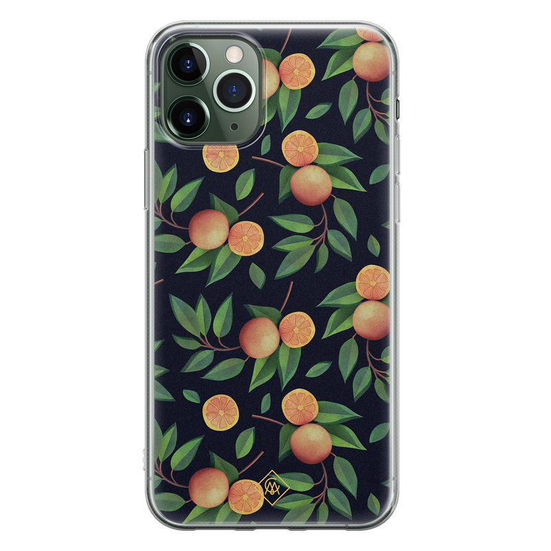 Casimoda iPhone 11 Pro siliconen hoesje - Orange lemonade