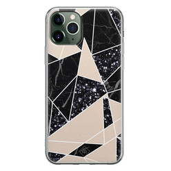 Casimoda iPhone 11 Pro siliconen hoesje - Abstract painted